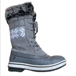 North side Size 8 faux Fur Lining Grey Boots